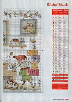 Points de croix **@* Cross stitch Christmas