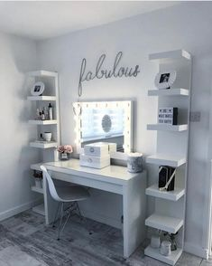 dream rooms for adults . dream rooms for women . dream rooms for couples . dream rooms for adults bedrooms . dream rooms for adults small spaces Teenage Room Decor, Teen Decor, Makeup Room Decor, Makeup Rooms, Diy Beauty Room Decor, Room Ideas Bedroom, Bedroom Decor For Teen Girls Dream Rooms, Girls Bedroom Ideas Teenagers, Ikea Room Ideas