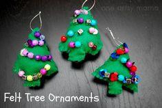 DIY Ornaments For Christmas : DIY LCs Felt Tree Ornaments