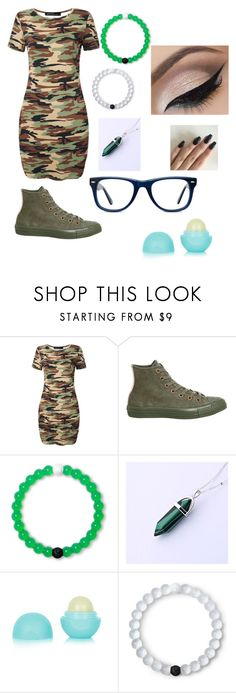 """camouflage"" by music-is-me-21703 on Polyvore featuring Converse, Lokai, Eos and Muse"