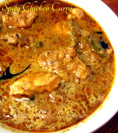 Spicy Chicken Curry with Onion Tomato Oil Bay Leaf Curry Leaves Cumin Seeds Coriander Leaves Chicken Turmeric Powder Lemon Juice Salt Grated Coconut Coriander Seeds Curry Leaves Whole Peppercorns Kalpasi Cinnamon Stick Cardamom Star Anise. Easy Indian Recipes, Asian Recipes, South Indian Chicken Recipes, South Indian Foods, Pakistani Chicken Recipes, Pakistani Recipes, Spicy Chicken Curry Recipes, Veg Recipes, Cooking Recipes