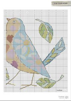 CrossStitcher №292 (June 2015) - Birds  of a Feather Pillows 4/6