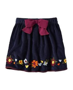 Girls Stitchery Pincord Skirt by Hanna Andersson Cousin Pictures, Family Pictures, Baby Skirt, Hand Embroidery Designs, Floral Embroidery, Funny Hoodies, Corduroy Skirt, Hanna Andersson, Kids Pajamas