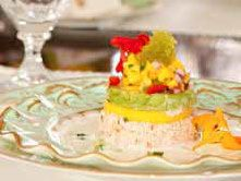 Crab Salad Tower with White Gazpacho as seen in the June 2012 issue of ...
