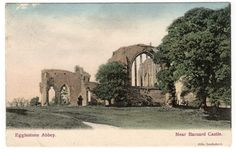 Egglestone Abbey England Vintage Colored Postcard 1904 Used
