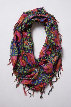Folk Art Flora Infinity Scarf #anthropologie
