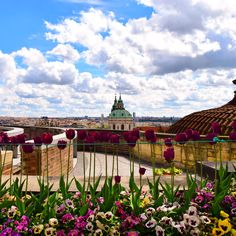 View over Prague from the Paradise Garden at the Prague Castle