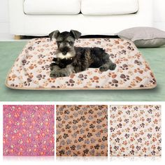 2016 Cute Warm Pet Bed Mat Cover Medium Towl Paw Handcrafted Print Cat Dog Fleece Pet Blanket Mat Winter Pet Supplies #clothing,#shoes,#jewelry,#women,#men,#hats,#watches,#belts,#fashion,#style