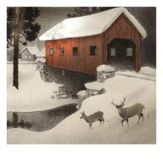 Nice pic of a covered bridge