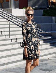 Ganni street style | Anja Johansen | Carlton Georgette Dress