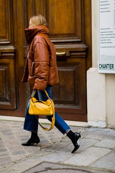 leather quilted coat