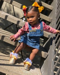 """ONLY PAGE ✨ on Instagram: """"Falling For Fall 🍂💛🍂💙🍂🖤"""" Cute Mixed Babies, Cute Black Babies, Beautiful Black Babies, Cute Babies, Cute Little Girl Hairstyles, Cute Little Girls Outfits, Baby Girl Hairstyles, Kids Outfits, Black Baby Girls"""