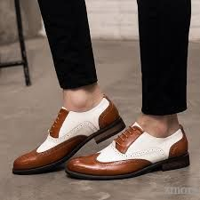 No chating,only fair trading.Trust us ! Leather Brogues, Tan Leather, Oxfords, Business Shoes, Business Dresses, Two Tone Brogues, Formal Shoes, Formal Dresses, Vintage Men