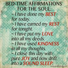 Learn the 3 things you must remove from your bedroom + these simple bedtime affirmations for the soul that promise you sound sleep!!
