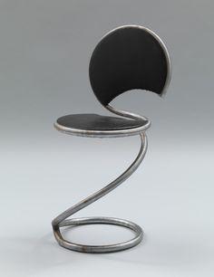 Poul Henningsen (Danish, 1894–1967) Snake Chair  Manufacturer:     PH Stalmobler for V.A. Høffding A/S, Dansk Købestoevne Date:     1931