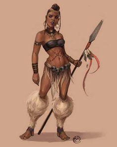 Imgs For > African Zulu Warrior Costume Warrior Princess, Warrior Queen, Woman Warrior, Fantasy Warrior, Fantasy Art, Zulu Warrior, Tribal Warrior, African American Art, African Art