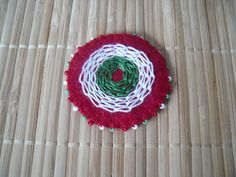 Kokárda filcből 2. Rakhi, Crochet Earrings, March, Needlepoint, Mac