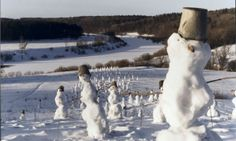 Snowman Art. Nikolay Polissky