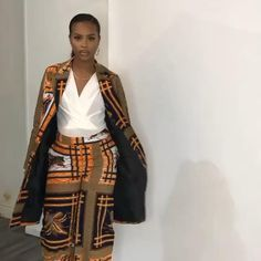 Wide Leg Trousers, Trousers Women, Pants For Women, African Textiles, African Fabric, African Attire, African Dress, Style Eve, African Children