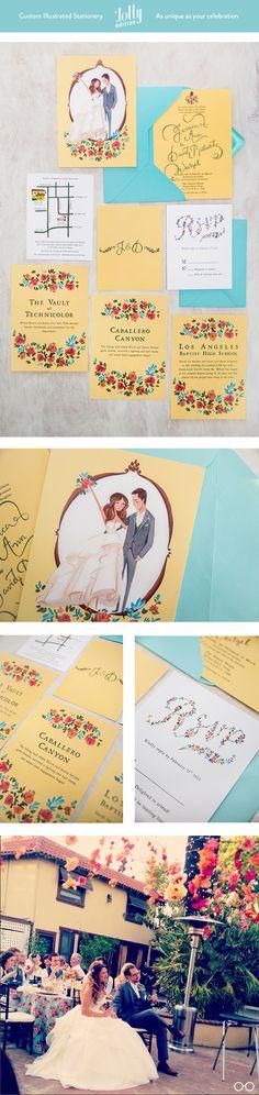 #custom #wedding # stationery by @Jolly Edition.  omg i LOVE this one!!