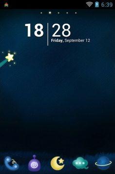 """Rainbow Night"" Android Theme. Free download  http://androidlooks.com/theme/t0299-rainbow-night/ #android, #themes, #customization, #cartoon, #go_launcher"