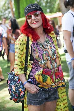 Patricia Field at #Coachella, 2015