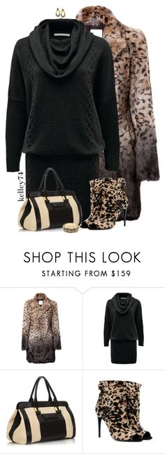"""Leopard"" by kelley74 ❤ liked on Polyvore featuring Each Other, Emu, Burberry, Betsey Johnson and Belle Noel by Kim Kardashian"