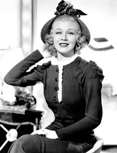 Ginger Rogers :) gorgeous..and i love her sassy attitude