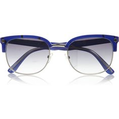 Marc by Marc Jacobs D-frame metal and acetate sunglasses (220 BRL) ❤ liked on Polyvore featuring accessories, eyewear, sunglasses, glasses, blue, óculos, metal glasses, marc by marc jacobs eyewear, uv protection sunglasses and marc by marc jacobs