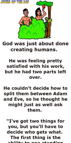 God reveals the difference between women and men