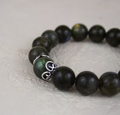 Labradorite Sterling Silver Beaded by PlatiniFineJewellery on Etsy, $25.00