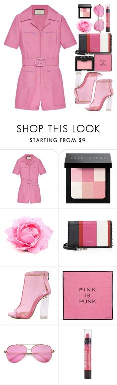 """""""Be the game changer"""" by fangirl-preferences ❤ liked on Polyvore featuring Gucci, Bobbi Brown Cosmetics, Nude, Balenciaga, WithChic, Valentino and NARS Cosmetics"""