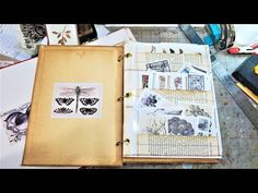 How to Make a STORAGE BOOK for Ephemera, Embellishments & Digi Kits for Junk Journals Paper Outpost! - YouTube Journal Paper, Book Journal, Journals, Journal Ideas, Altered Books Pages, Paper Crafts Origami, Paper Crafting, Craft Room Storage, Diy Storage