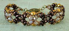 Linda's Crafty Inspirations: Bracelet of the Day: Eclipse Bracelet - Jet Vega