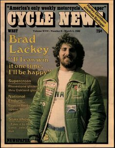 1980- Brad Lackey on the cover of Cycle News.