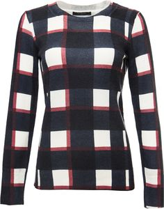 Scoop - Plaid Cashmere Crewneck Sweater