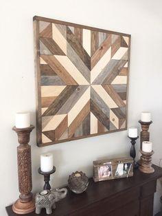 SALE Reclaimed wood wall art modern wall decor wooden decor