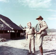 Ernest and Mary Welsh (the fourth and the last wife of Hemingway) on safari in Kenya, Africa, 1953-1954 - before the two plane accidents.