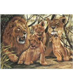 12''x15-1/2'' Paint By Number Kit-Pride Of Lions