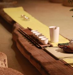 Chinese tea ceremony setting