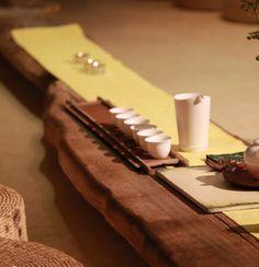 Chinese tea ceremony setting