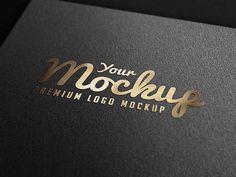 Gold Stamping logo mockup psd
