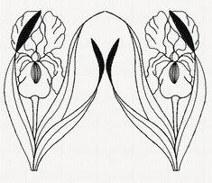 iris-redwork-embroidery