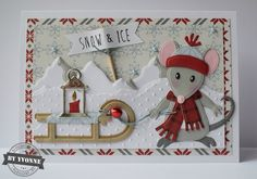 Kaarten & zo: 52 weeks to Christmas. Company Christmas Cards, Christmas Cards 2018, Christmas Card Crafts, Handmade Christmas, Marianne Design Cards, Bee Cards, Winter Cards, Kids Cards, Scrapbook Cards