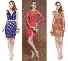 vestidos de renda simples para festa modelos - Pesquisa Google