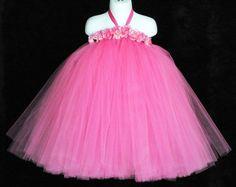 Tutu Dress  Hot Pink  Summer Rose  Custom SEWN Tutu by TiarasTutus, $90.00