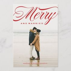 Shop Merry and Married Script Holiday Photo Card created by CheerUpCherup. Wedding Couple Photos, Wedding Couples, Holiday Photo Cards, Holiday Photos, Christmas Wedding Invitations, Cheer Up, Just Married, Christmas Themes, Newlyweds