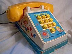Fisher Price Pop-Up Pal Chime Phone,1967. I loved this phone!