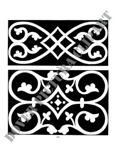 Medieval tile designs, theses would be awesome as silhouette carving