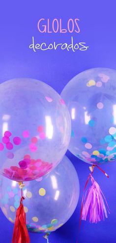 A todos le gustan los globos y que mejor de personalizarlos con papel china y con los colores que más te gusten, son perfectos para decorar una mesa de dulces o simplemente para regalar este 14 de febrero. Happy Birthday Mom, Frozen Birthday Party, Balloon Garland, Balloons, Ideas Para Fiestas, Fiesta Party, Unicorn Party, Valentines Diy, Holidays And Events
